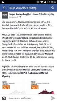 [Lokal Snipes Ludwigsburg] 30.09. & 01.10. - Red Bull und Süßes for Free - Snipes Ludwigsburg Neueröffnung