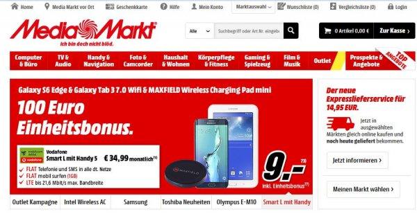 Samsung Galaxy S6 Edge 32GB + Samsung Galaxy Tab 3 7.0 lite Wifi + MAXFIELD Wireless Charging Pad mit Smart L mit Handy 5 Vodafone (Mobilcom)
