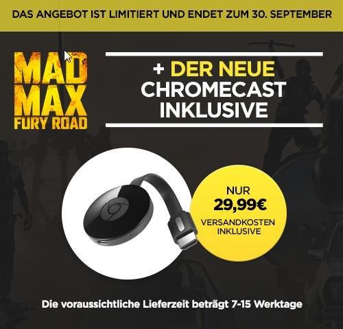 Der NEUE Chromecast - mit MadMax FuryRoad - nur heute - Wuaki.tv