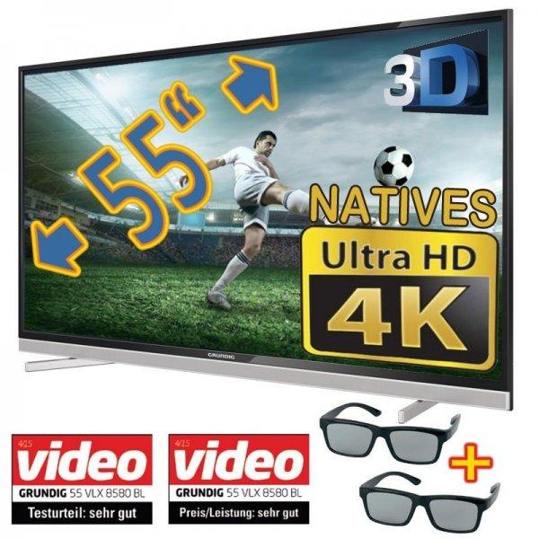 """Grundig 55 VLX 8580 für 649€ - 55"""" 4K Fernseher mit 3D und Triple-Tuner @ eBay"""