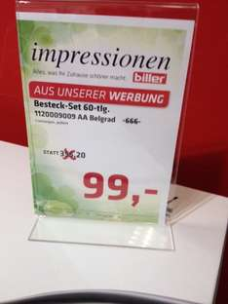 (Lokal Biller Plauen) WMF-Besteckset BELGRAD 60-teilig 99,00 Euro