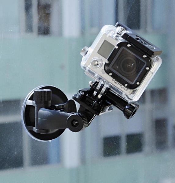 Auto KFZ Halter Halterung Car Holder Mount für GoPro Hero 3+ 3 2 1 mit 7cm Base