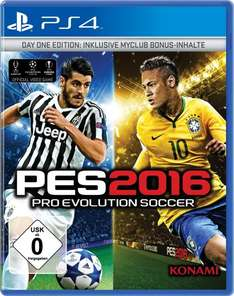 PES 2016 - Pro Evolution Soccer 2016 (Day 1 Edition) - PlayStation 4 /Xbox One für 34 € @ Saturn Latenight Shopping