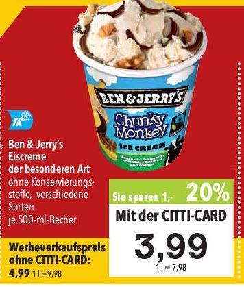 [Regional] Citti Markt Ben & Jerrys Eis