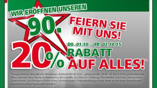 20% Rabatt @ Hela und Globus bundesweit vom 1.10 bis 2.10