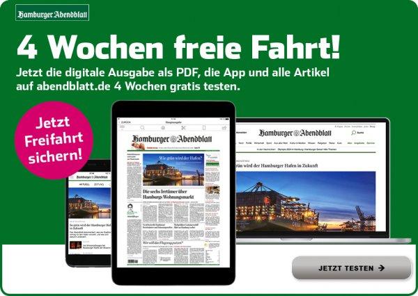 Hamburger Abendblatt digital 4 Wochen kostenlos