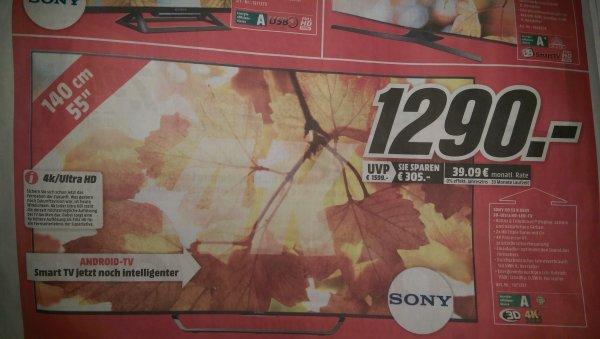 [Lokal Media Markt Bischofsheim] Sony KD55X8505C 139cm (55 Zoll) 4k UHD Tv
