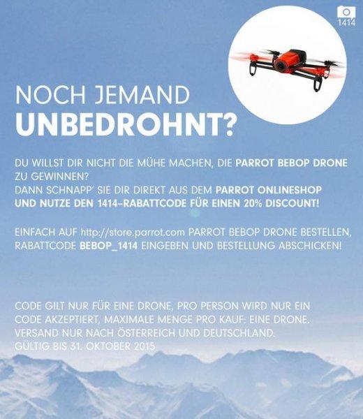 Parrot Bebop Drohne - 20 % = 399,20 € / günstigster (idealo) 420,00 €