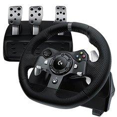 Logitech G920 Driving Force Racing Wheel für Xbox One, PC (UK Version), Game Controller, für 286,11€ statt 350,32€ @Amazon