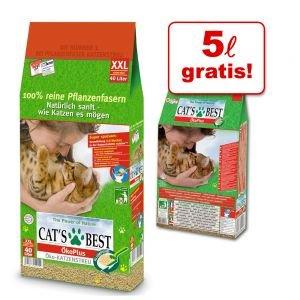 Katzenstreu Cat's Best Öko Plus: 40 + 5 Liter für 20,99€ inkl. Versand bei zooplus