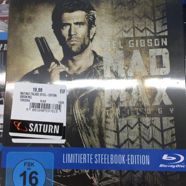 Mad Max steelbox Trilogie 19,99€ Saturn Wuppertal