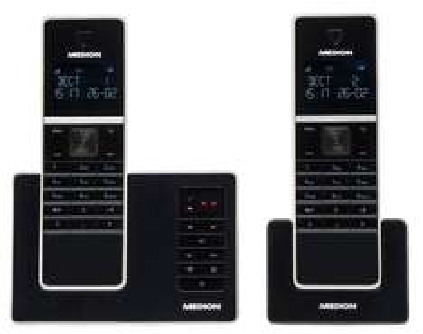 MEDION LIFE P63040 Twin DECT 2er Set schnurlos Telefon integr. Anrufbeantworter B-Ware , ebay 29,99€