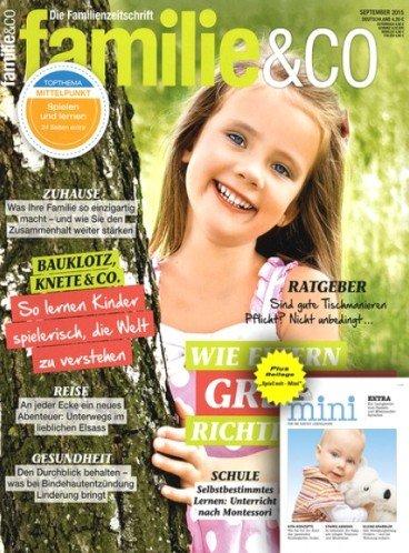 """Jahresabo der Zeitschrift """"Familie&Co."""" für 66,50€ mit 35,00€ Verrechnungsscheck"""