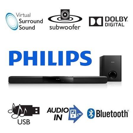 Philips HTL2160/12 Bluetooth SoundBar-Lautsprecher schwarz