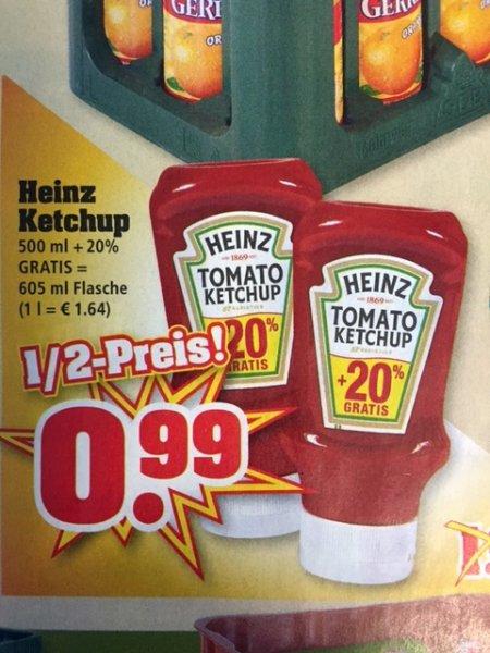 HEINZ Tomaten-Ketchup 500ml + 20% nur 0.99 € [TRINKGUT] 05.10. - 10.10.