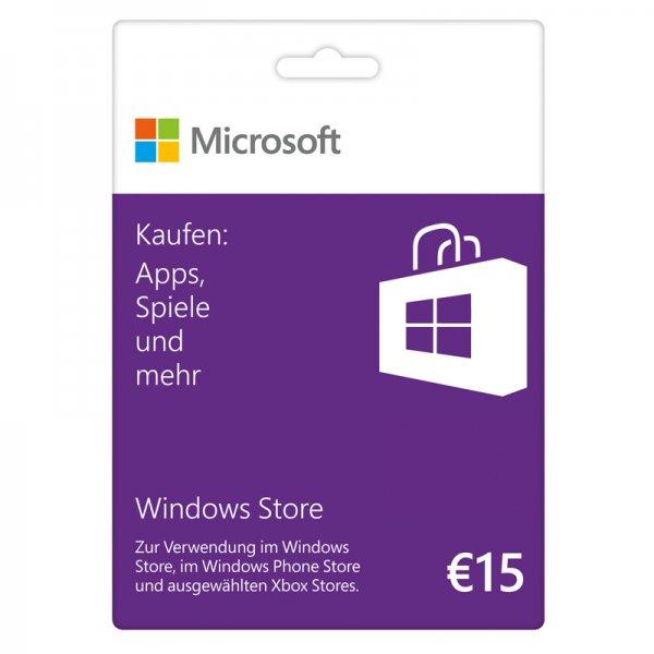 nbb Microsoft Windows Store 15 € Guthabenkarte