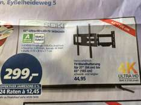 "Seiki 42"" UHD TV SKB4240S baugleich mit Orion CLB42B4000S @ Real Gifhorn"