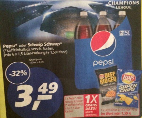 [KW 41] 6er Pack 1,5l Pepsi / Schwip Schwap (0,39€ je l) + Lays Chips - 3,49€@ Real