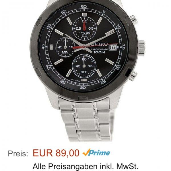 Seiko Männer-Armbanduhr Chronograph Quartz SKS427P1 @Amazon - PVG 128,90