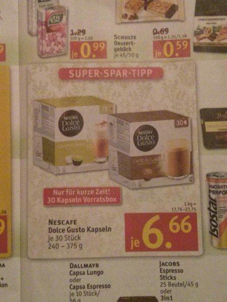 [Bundesweit] Rossmann Nescafe Dolce Gusto Vorratsbox 30 Kapseln für 6,66 Euro. Mit 10% Gutschein 6 Euro