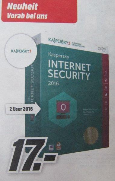 [Media-Märkte in Berlin und Eiche, Schwedt, Waltersdorf] Kaspersky Internet Security 2 PCs / 1 Jahr