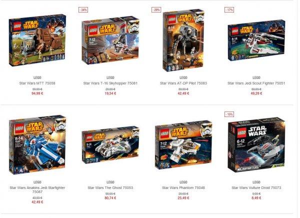[Galeria Kaufhof] Lego Star Wars um 15% reduziert + 12/75-Gutschein oder 10% *** z.B. Imperial Shuttle Tydirium 75094 für 64,49€ oder Millennium Falcon 75105 für 107€