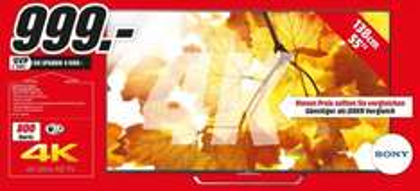 (Lokal MediaMarkt Speyer) Sony KD-55X8505C für 999€