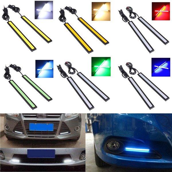 2x 12V (8W) LED Lichtleiste (500lm) fürs Auto mit Klebestreifen verschiedene Farben (allbuy)