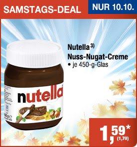 [METRO] Nutella 450g für 1,70€ brutto am 10.10.