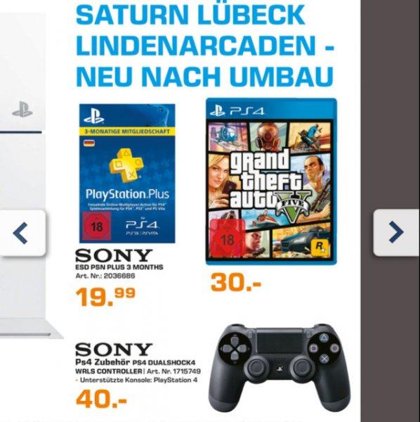 [Saturn Lübeck] Sony DualShock 4 Controller - Lokal - 40€