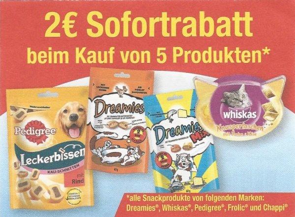 *MÜLLER KW41* Whiskas Snacks 5st für 2,28€