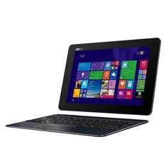 T100CHI-FG001B 25,6 cm (10,1 Zoll FHD) Convertible Tablet-PC (Intel Atom Z3775, 1,4GHz, 2GB RAM, 32GB SSD, Intel HD, Win 8, Touchscreen) schwarz Win 10 kompatibel, azerty