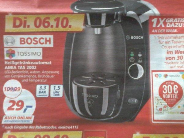 Bosch Tassimo TAS2002 Amia bei REAL (offline)   für 29€   am Dienstag 06.10.15