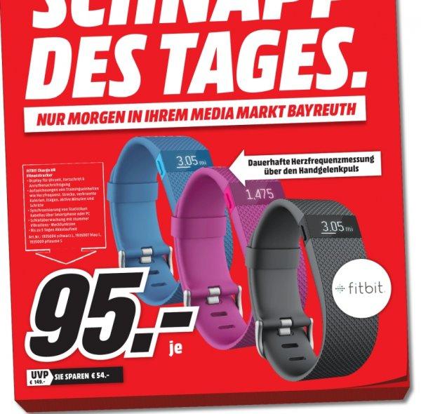 [Lokal Mediamarkt Bayreuth] Schnapp des Tages am 05.10...FitBit CHARGE HR Fitness-Armband in 3 Farben für je 95,-€