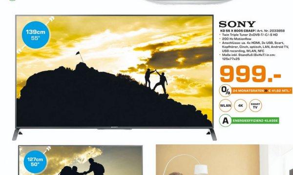 (Lokal Mönchengladbach)SONY KD55X8005C für 999€ @ Saturn