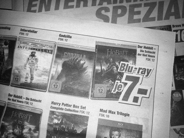 [expert klein] Verschiedene BluRays für 7 EUR (z.B. Interstellar, Jupiter Ascending, Der Hobbit 3) / Ruhet in Frieden BD für 8,99 EUR // Box-Sets für 14,99 EUR