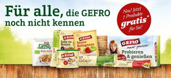 Gefro 7 Produkte Gratis - ohne Kündigung / unverbindlich (Erinnerung für alle die es noch nicht kennen)