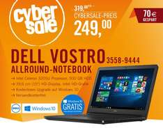 "Dell Vostro 15 3558, Celeron 3205U, 4GB RAM, 500GB HDD, 15,6"" matt, Windows 8.1 - 249€ @ Cyberport.de"