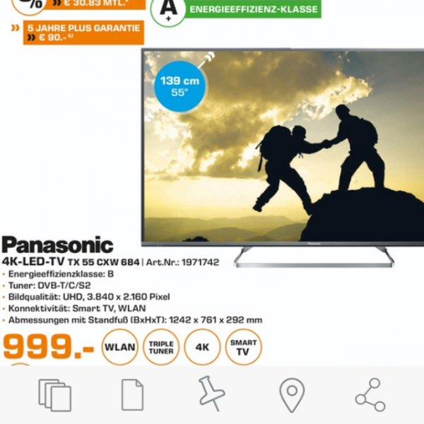 Panasonic TX 55 CXW 684