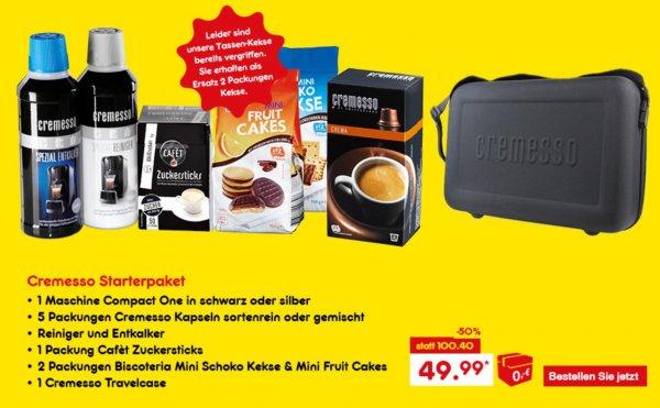 Cremesso Compact one +Zübehör 50%Rabatt @ netto-online