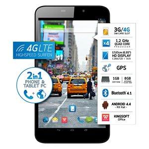 Phone & Tablet PC Odys, Tablet PC ORBIT-LTE 17,65 cm (6,95 Zoll), Quad Core Prozessor (4 x bis zu 1,2 GHz) für 106 Euro (Versandkostenfreie Marktanlieferung (Real))