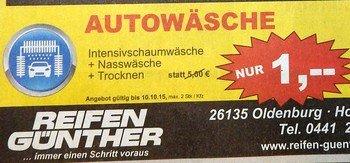[Lokal OL] Autowäsche bei Reifen Günther