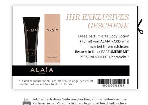 [Parfümerien mit Persönlichkeit] ALAÏA PARIS Bodylotion (75ml)