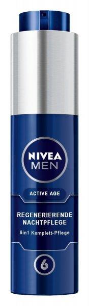 Nivea Men Active Age 6in1 Regenerierende Nachtpflege, Gesichtspflege, 1er Pack (1 x 50 ml) @amazon