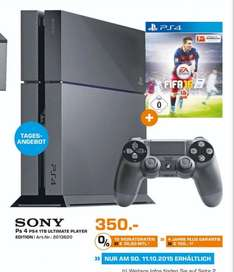 (Lokal Neuss) PS4 Ultimate Player 1TB Edition + FIFA16 für 350€ (Nur FIFA16 49€)@ Saturn