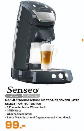 [Lokal Saturn Augsburg] Philips Senseo Latte Select HD 7854/60 schwarz für 99,-€