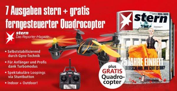 7 Ausgaben Stern + gratis Quadrocopter