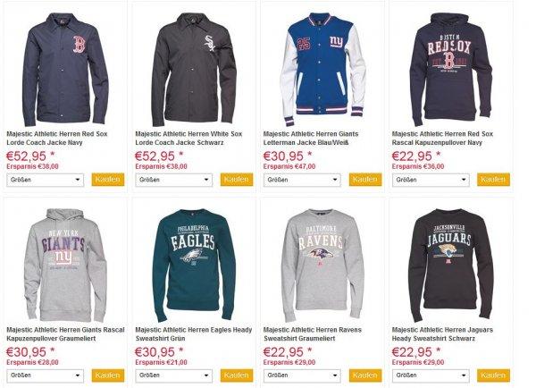 Majestic Athletic Sale - bis zu 60% auf US-Sport und Freizeitkleidung ab 10,95€