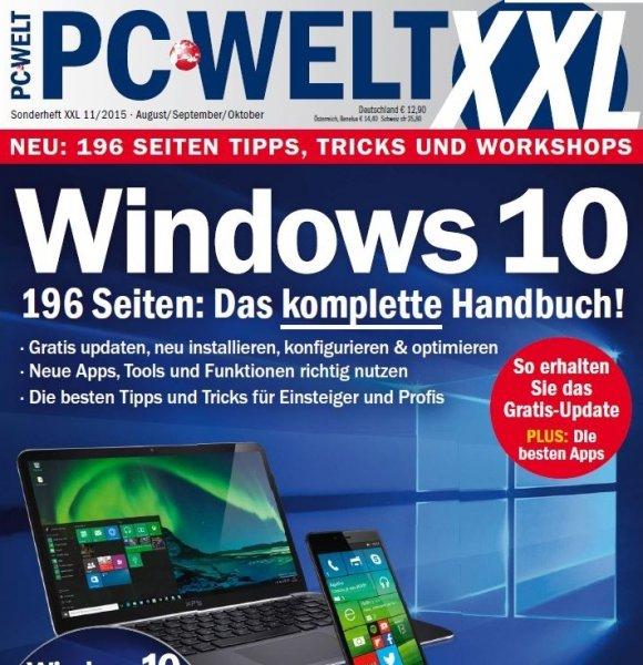 Gratis: PC-WELT-XXL-Sonderheft zu Windows 10 zum Download