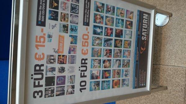 Saturn Braunschweig lokal 10 blu rays für 50 €